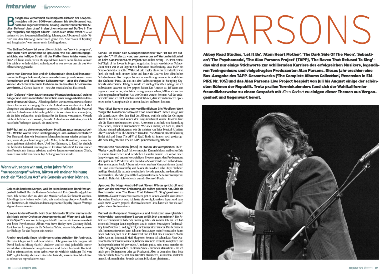 Interview m. Alan Parsons