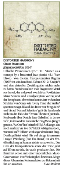 #Review Distorted Harmony - Chain Reaction
