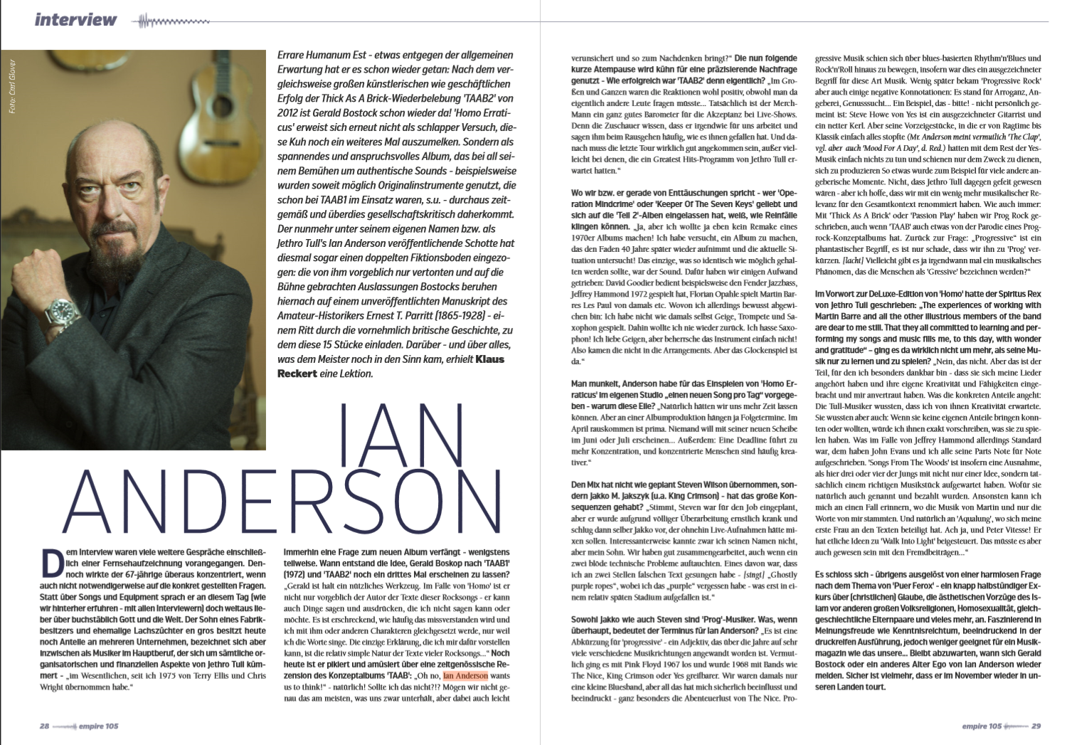 #Interview w/ Ian Anderson (Jethro Tull)