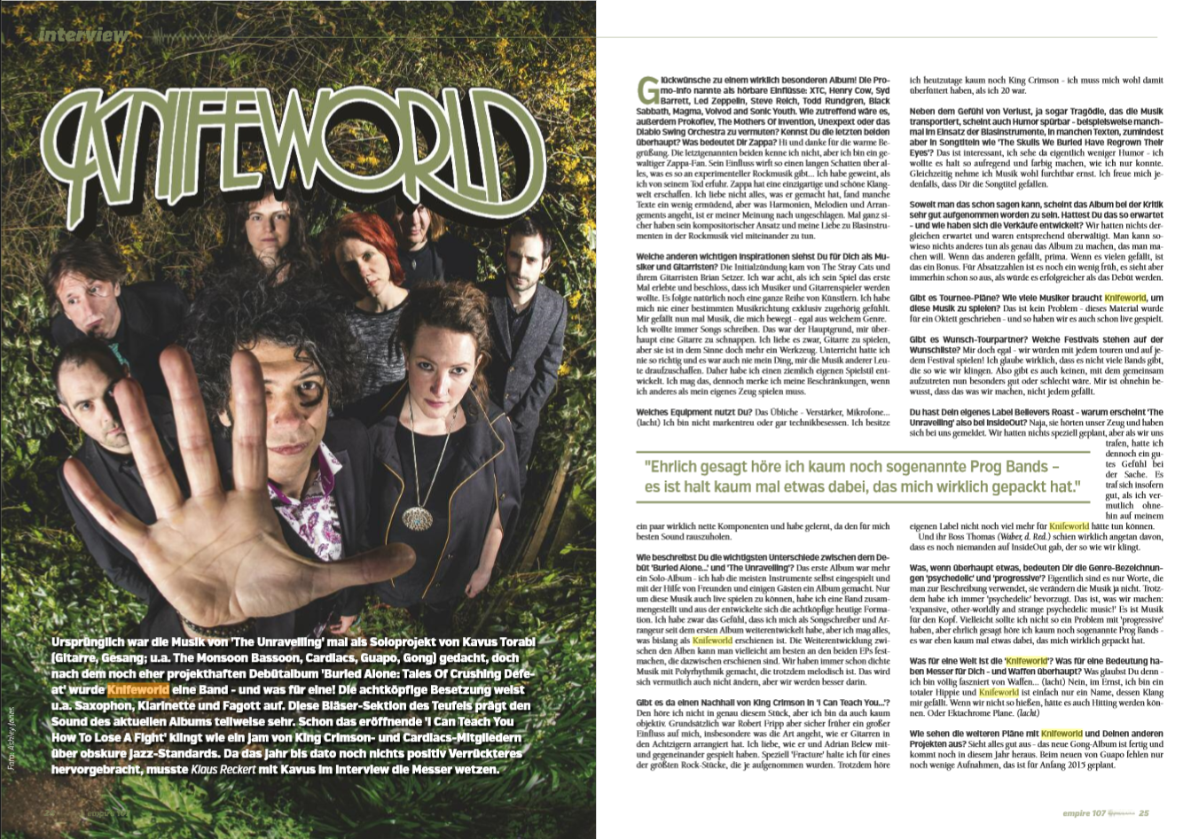 Interview m. Kavus Torabi, Knifeworld