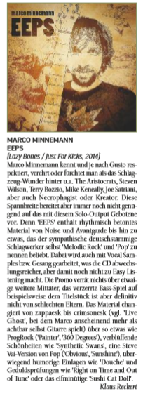 #Review Marco Minnemann - EEPS