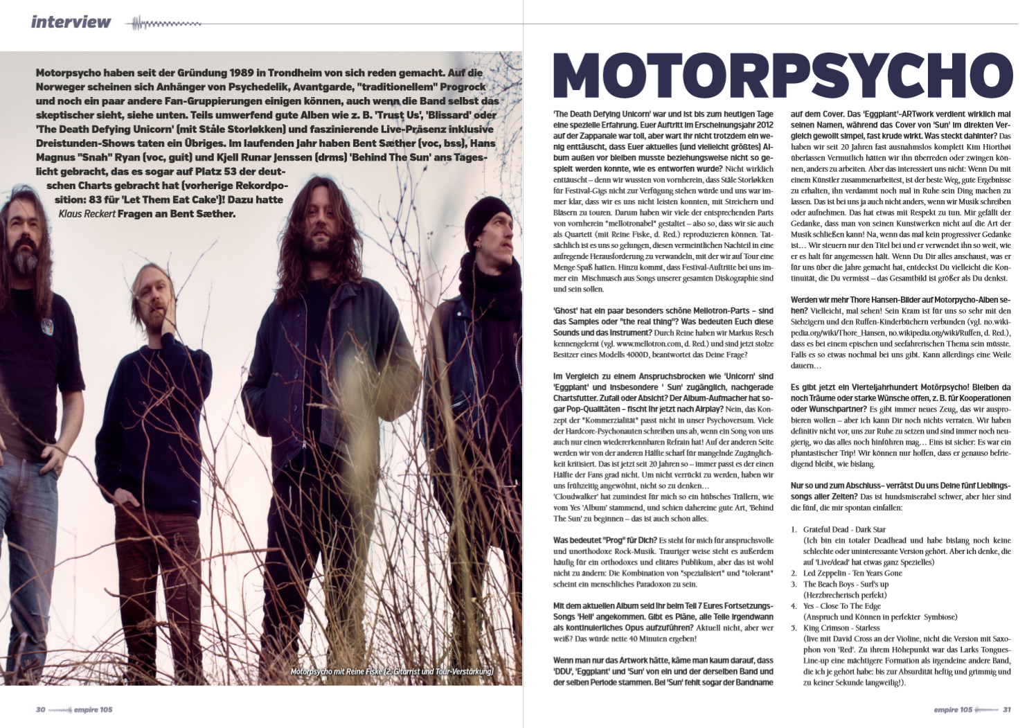Interview w/ Bent Saether, Motorpsycho