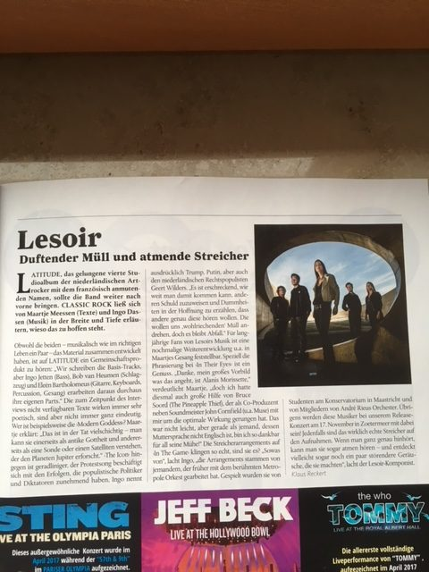 Interview Lesoir (Classic Rock 12/17)