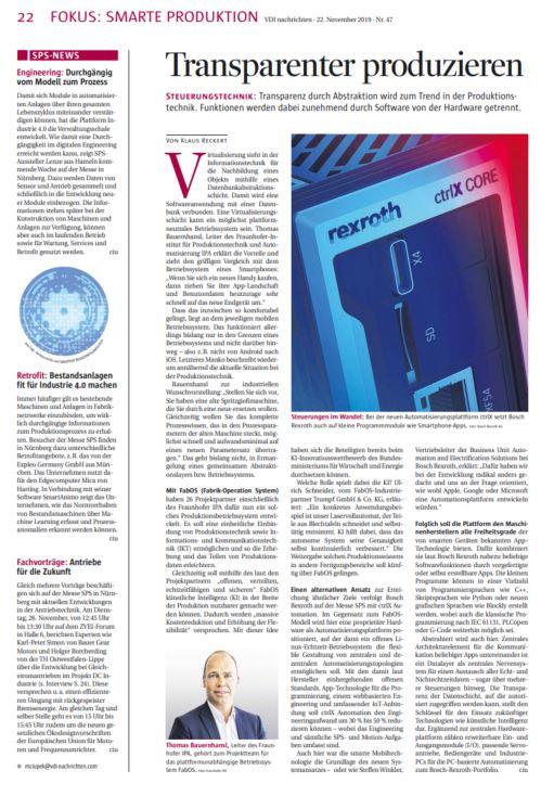 VDI nachrichten Nr. 47/2019