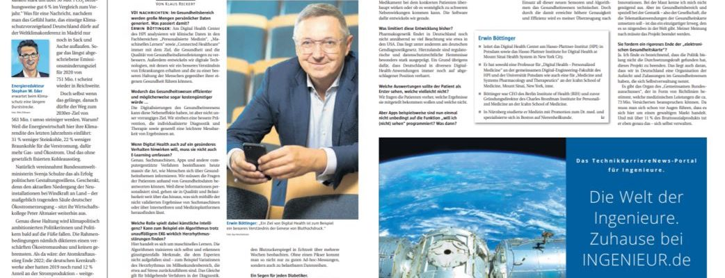 Prof. Erwin Böttinger (HPI) im Interview zu Digital Helth