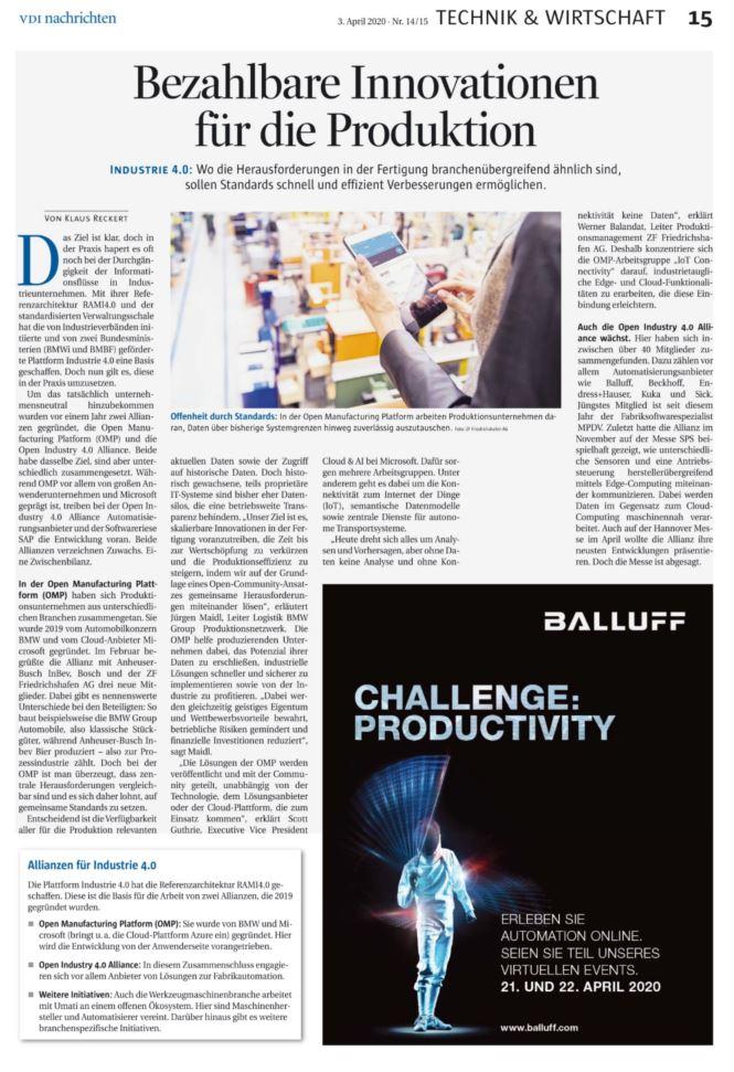 Ausgabe 14-15 der VDI nachrichten